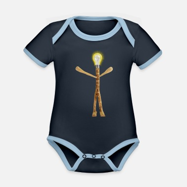 The lamp - Organic Contrast Baby Bodysuit