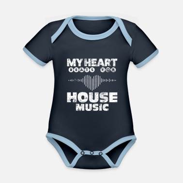 House House music - Organic Contrast Baby Bodysuit
