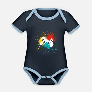 Console Gaming console - Organic Contrast Baby Bodysuit