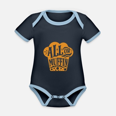 Muffin Muffin - Organic Contrast Baby Bodysuit