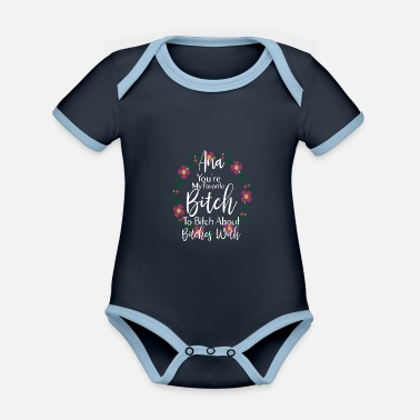 Personalized You're My Favorite Bitch Ana - Organic Contrast Baby Bodysuit