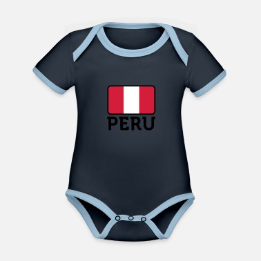 Lake Titicaca National Flag of Peru - Organic Contrast Baby Bodysuit