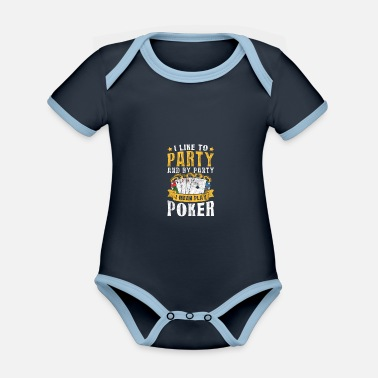 Texas Poker Pokerface Pokertunier All In - Baby Bio Kurzarmbody zweifarbig