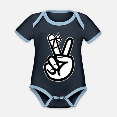 Injured injured hand - Organic Contrast Baby Bodysuit