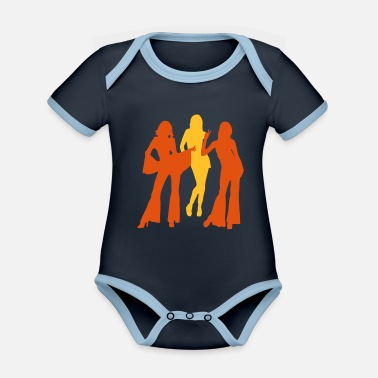 Vintage 70s and 80s woman and girls ii - Organic Contrast Baby Bodysuit
