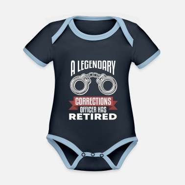 Count Royal Correctional Officer Correctional Officer Jail - Organic Contrast Baby Bodysuit