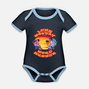 Less Monday, more summer - Organic Contrast Baby Bodysuit