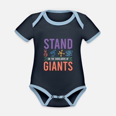Nuclear Science microbiology - Organic Contrast Baby Bodysuit
