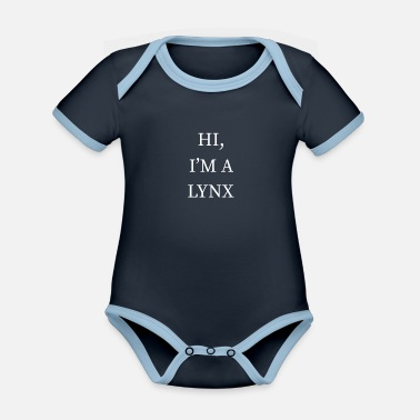 Pumpkins I'm A Lynx Halloween Funny Last Minute Costume - Organic Contrast Baby Bodysuit