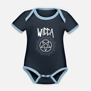Wicca Wicca Inverted Pentagram - Organic Contrast Baby Bodysuit