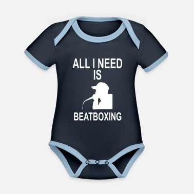 EVERYTHING I NEED IS BEATBOXING - Organic Contrast Baby Bodysuit
