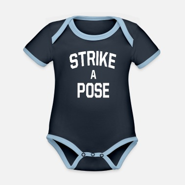 Pose STRIKE A POSE - Organic Contrast Baby Bodysuit
