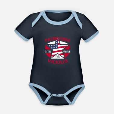 Fatherland Patriotism is a virtual friend of the fatherland - Organic Contrast Baby Bodysuit