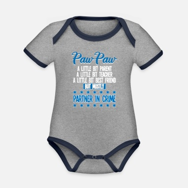 Paw Paw Paw Funny - Paw Paw Partner In Crime - Organic Contrast Baby Bodysuit
