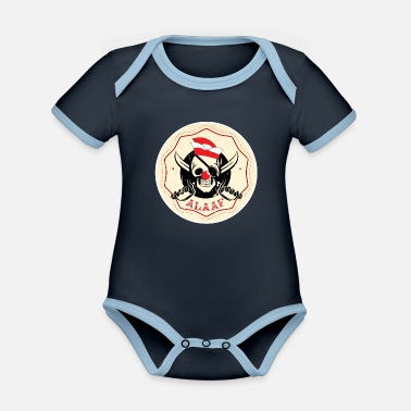 Shrove Monday Pirate Alaaf Carnival Gift - Organic Contrast Baby Bodysuit