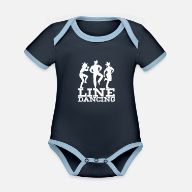 Dancer Line Dancing Cowboy Country Music Gift - Organic Contrast Baby Bodysuit