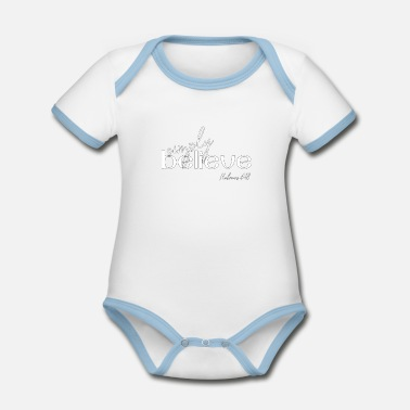 Christian Design - Simply Believe - Organic Contrast Baby Bodysuit