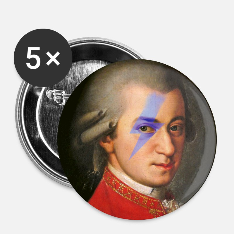 Maquillage Badges - mozart rocks - Badges Moyens blanc