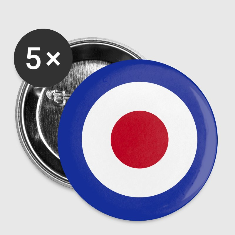 Mod Target United Kingdom Großbritannien Rollerfahrer Scooter Run Beatmusik - Spilla media 32 mm