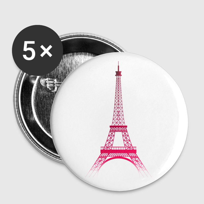 Tour Eiffel PARIS (rubis) - Badge moyen 32 mm