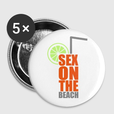 Cocktails, farbenfroh und lecker: Sex on the Beach - Buttons/Badges mellemstor, 32 mm