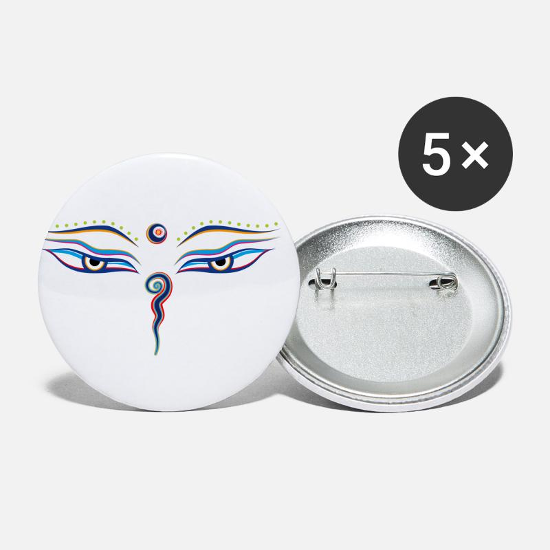 Eye Buttons - Eyes of Buddha - Medium Buttons white
