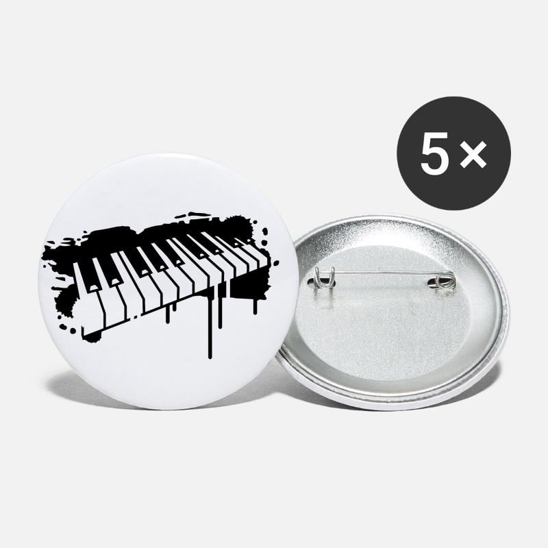 Keyboard Buttons - Piano keyboard in graffiti style - Medium Buttons white