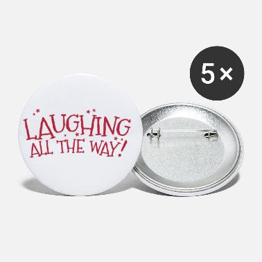 Laughing all the way! Christmas design - Medium Buttons