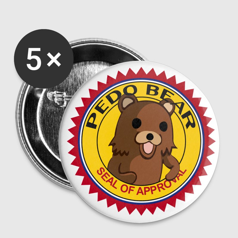 pedobear-transparent - Badge moyen 32 mm