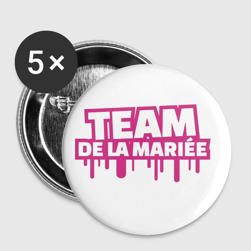 team de la mariée (v.3) - Badge moyen 32 mm