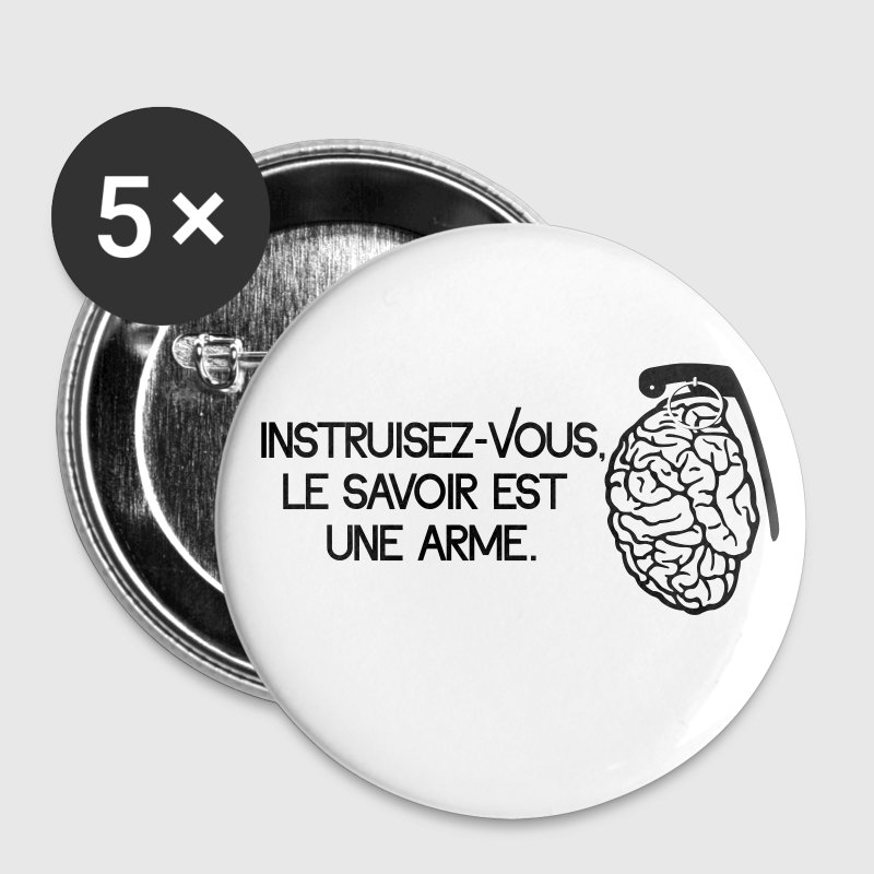 Le savoir est une arme - knowledge is a weapon - Buttons medium 32 mm