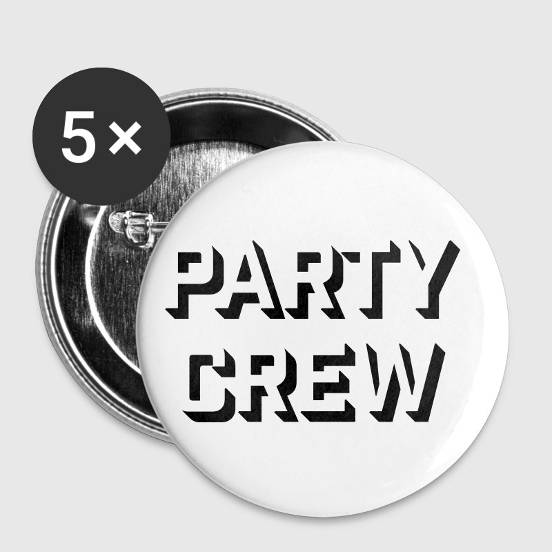 party crew musik - Buttons mittel 32 mm