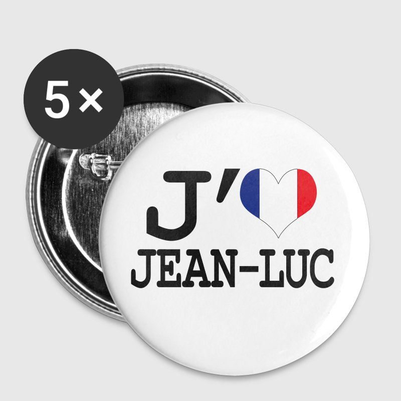 j'aime jean-luc - Badge moyen 32 mm