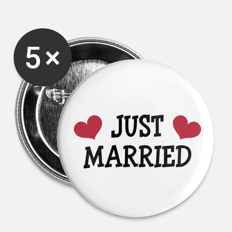 Just Buttons - Just Married - Wedding - Buttons middel wit