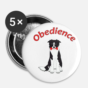 Border Collie Obedience Border Collie 2 - Lot de 5 moyens badges (32 mm)