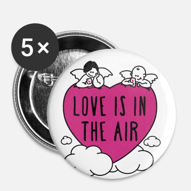valentine - love is in the air 3c - Buttons mittel 32 mm