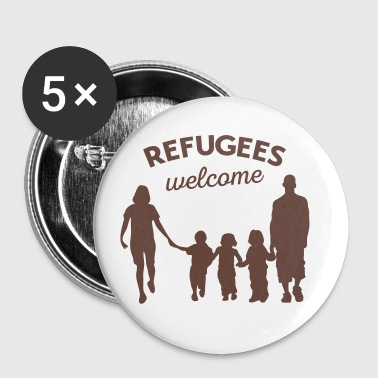 Refugees welcome - Buttons medium 32 mm