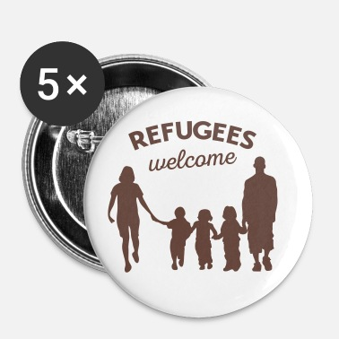 Refugees Welcome Refugees welcome - Buttons medium 1.26/32 mm (5-pack)