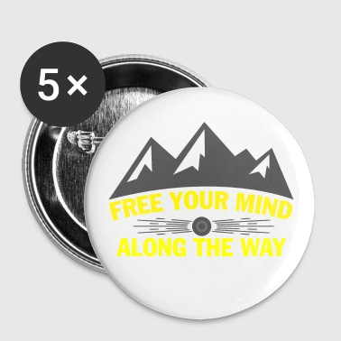 Wandern Free your mind  - Buttons mittel 32 mm
