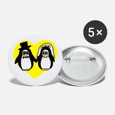 Sumu Lee penguin wedding - Medium Buttons