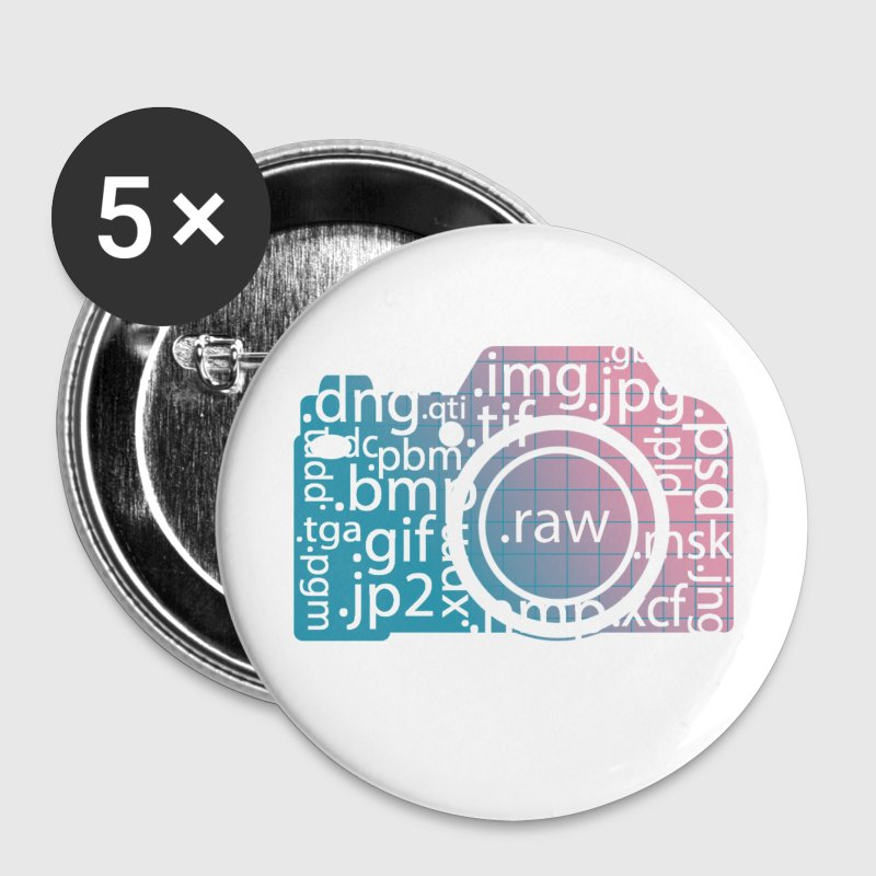 i shoot raw - Buttons mittel 32 mm