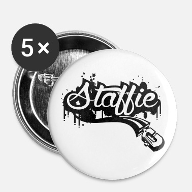 Staff Staffie graffiti - Badge moyen 32 mm