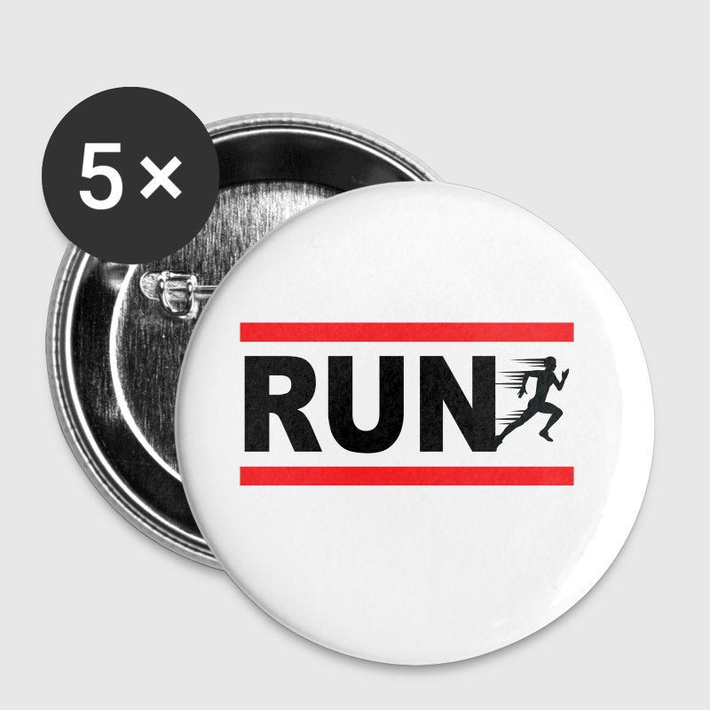 Run, courreur, sportif, course a pied - Badge moyen 32 mm