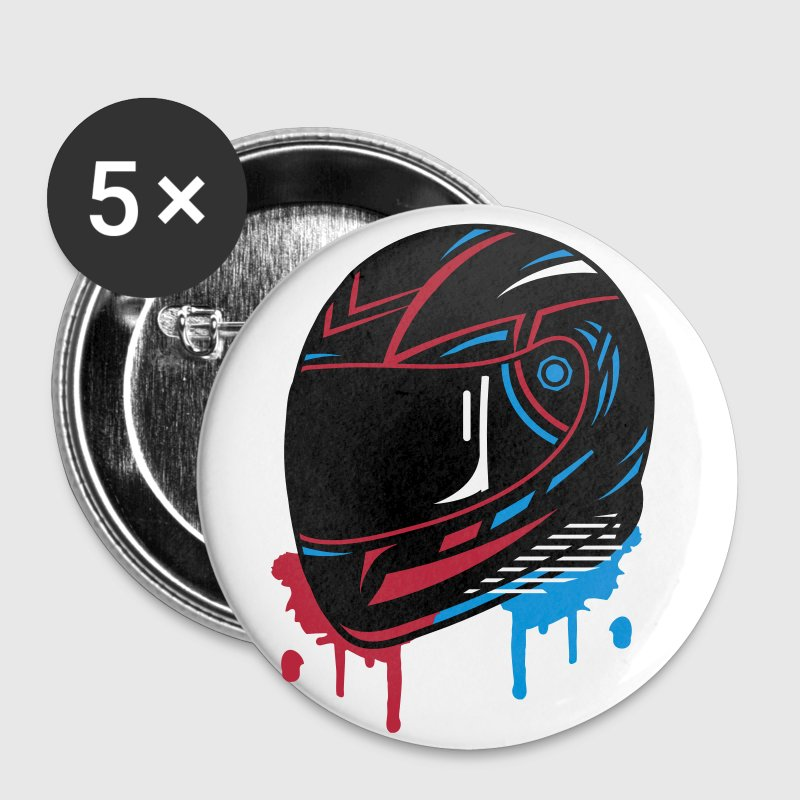 Motorcycle helmet Graffiti - Buttons medium 32 mm
