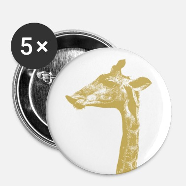 Giraffa Giraffe - Spilla media 32 mm