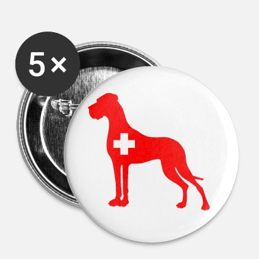 Helvetia Great Dane - Buttons mittel 32 mm