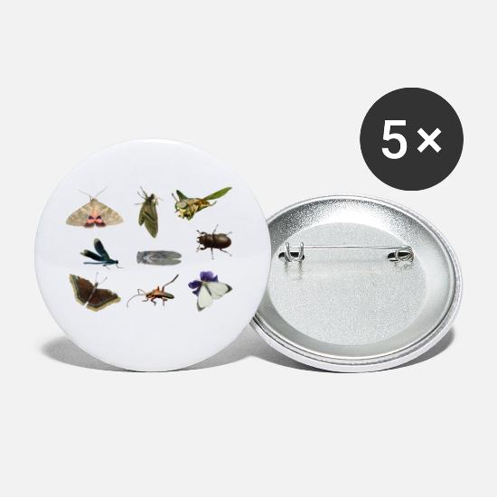 Butterfly Buttons - insects  - Medium Buttons white