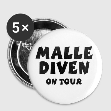 Malle Diven On Tour - Buttons mittel 32 mm