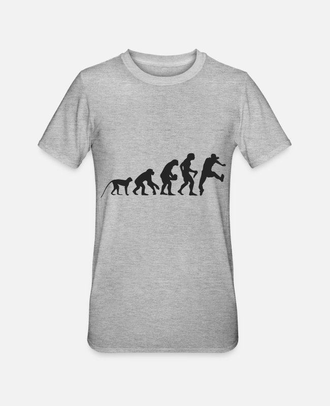 Competition T-Shirts - Evolution running - Unisex Polycotton T-Shirt heather grey