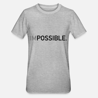 Impossible Impossible - Unisex Polycotton T-Shirt
